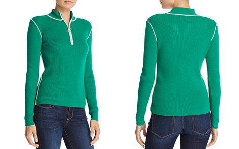 Maje Mandou Ribbed Zip Front Sweater - Bloomingdale's_2