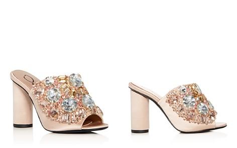 Oscar de la Renta Women's Embellished Satin High-Heel Slide Sandals - Bloomingdale's_2