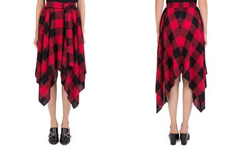 The Kooples Plaid Handkerchief-Hem Skirt - Bloomingdale's_2