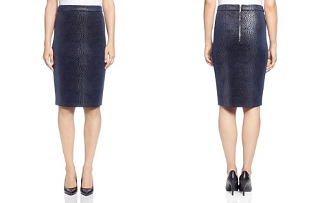 T Tahari Metallic Snake Print Pencil Skirt - Bloomingdale's_2