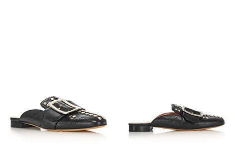 Bally Women's Janesse Almond Toe Studded Leather Mules - Bloomingdale's_2