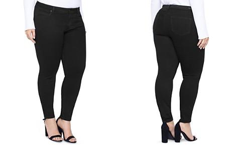 Liverpool Plus Abby Skinny Jeans in Black Rinse - Bloomingdale's_2