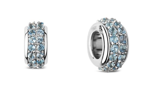 Links of London Sterling Silver Sweetie Pavé Blue Topaz Bead - Bloomingdale's_2