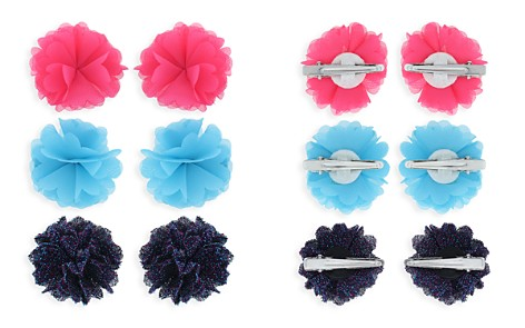 Capelli Girls' Mesh Flower Hair Clips, Set of 6 - Bloomingdale's_2