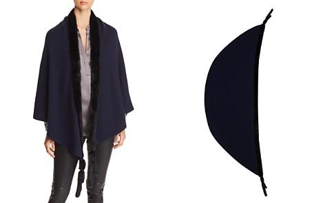 Max Mara Mink Fur-Tassel Cashmere Wrap - Bloomingdale's_2