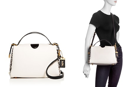 COACH 1941 Laurel Color-Block Leather & Snakeskin Convertible Satchel - Bloomingdale's_2