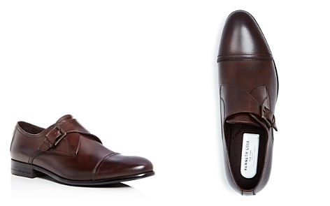 Kenneth Cole Men's Capital Leather Monk Strap Cap Toe Loafers - Bloomingdale's_2