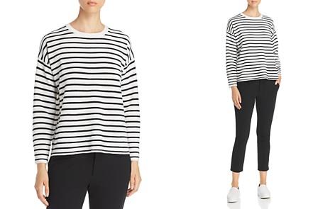 Eileen Fisher Petites Merino Wool Stripe Sweater - Bloomingdale's_2