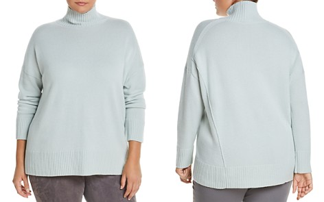 Lafayette 148 New York Plus Cashmere Relaxed Turtleneck Sweater - Bloomingdale's_2