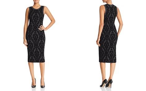 MICHAEL Michael Kors Floral Jacquard Midi Dress - 100% Exclusive - Bloomingdale's_2