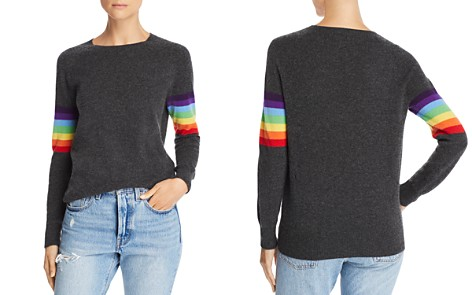 Madeleine Thompson Rainbow Stripe Cashmere Sweater - Bloomingdale's_2