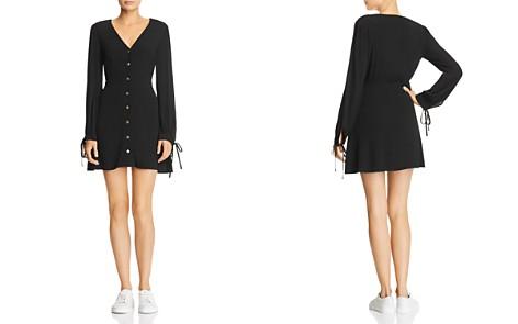 Re:Named Babi Button-Down Tie-Detail Mini Dress - Bloomingdale's_2