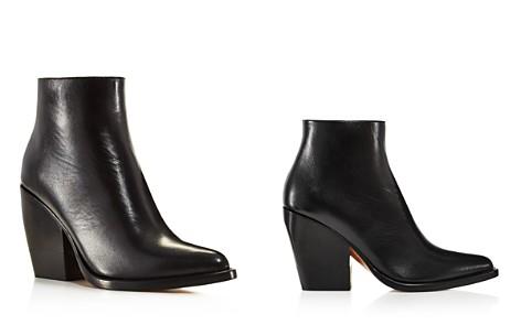 Chloé Women's Rylee Pointed Toe Leather Block Heel Booties - Bloomingdale's_2