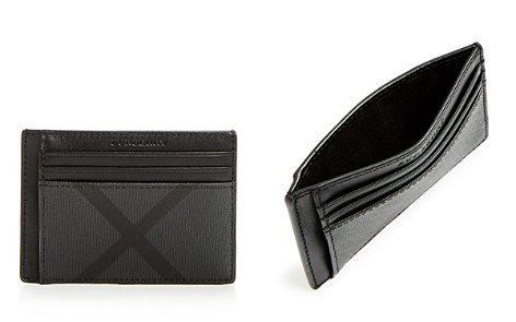 Burberry Chase Smoke Check Money Clip Card Case - Bloomingdale's_2