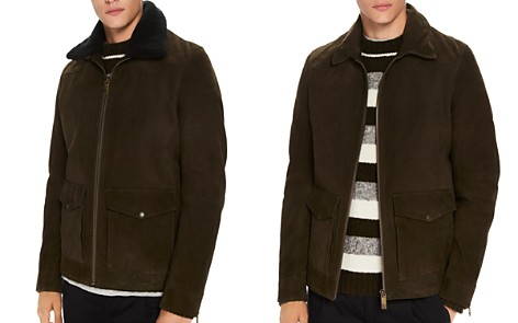Scotch & Soda Faux Shearling-Trimmed Suede Military Jacket - Bloomingdale's_2