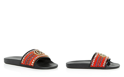 Gucci Women's Embellished Velvet Slide Sandals - Bloomingdale's_2