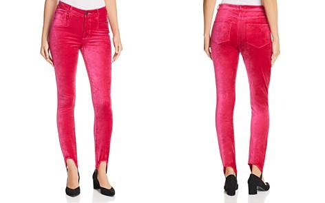 PAIGE Hoxton Velvet Skinny Stirrup Jeans in Cherries Jubilee - Bloomingdale's_2