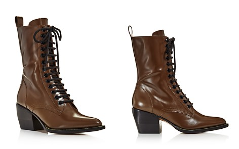 Chloé Women's Rylee Pointed Toe Leather Mid-Heel Boots - Bloomingdale's_2