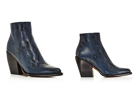 Chloé Women's Rylee Pointed Toe Snakeskin-Embossed Leather Booties - Bloomingdale's_2
