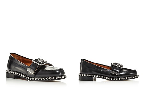 Chloé Women's Sawyer Almond Toe Studded Leather Loafers - Bloomingdale's_2