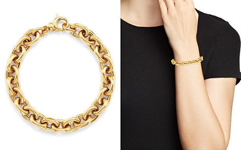Bloomingdale's Interlocking Chain Bracelet in 14K Yellow Gold - 100% Exclusive_2