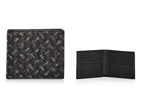 Bottega Veneta Intrecciato Microdots Woven Leather Bi-Fold Wallet - Bloomingdale's_2