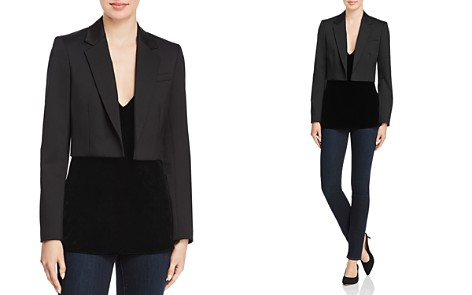 Theory Cube Cropped Blazer - Bloomingdale's_2