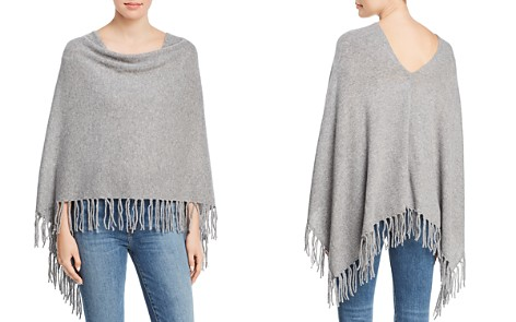 Minnie Rose Fringed Cashmere Ruana - Bloomingdale's_2