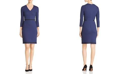 BOSS Hemio Textured V-Neck Dress - Bloomingdale's_2