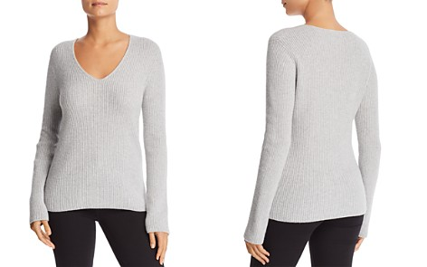 Majestic Filatures Metallic Merino Wool & Cashmere V-Neck Sweater - Bloomingdale's_2