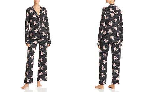 PJ Salvage Luxe Affair Floral Dot Jersey Pajama Set - Bloomingdale's_2