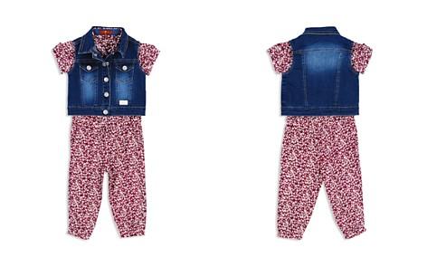 7 For All Mankind Girls' Denim Vest & Floral Romper Set - Baby - Bloomingdale's_2
