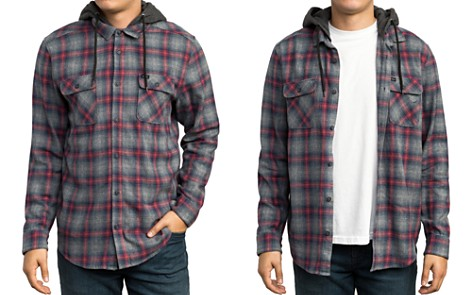 RVCA Good Hombre Hooded Plaid Flannel Shirt - Bloomingdale's_2