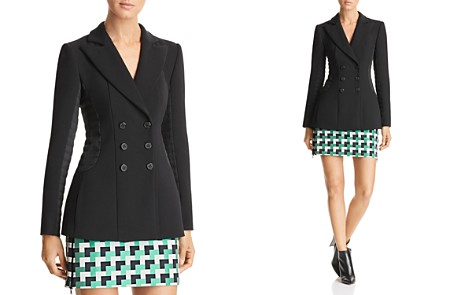 Emporio Armani Double-Breasted & Paneled Blazer - Bloomingdale's_2