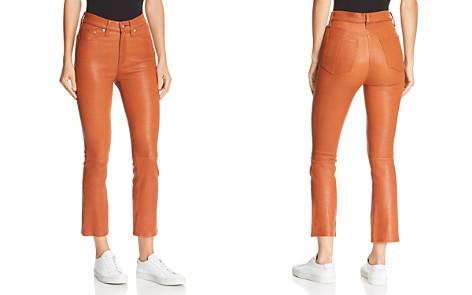 rag & bone/JEAN Hana Cropped Flared Leather Pants - Bloomingdale's_2