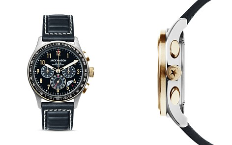 Jack Mason Racing Leather Chronograph, 42mm - Bloomingdale's_2