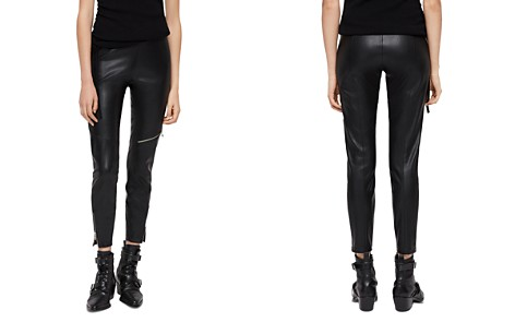 ALLSAINTS Kriva Faux Leather Biker Leggings - Bloomingdale's_2