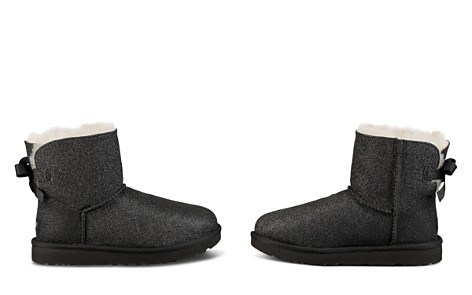 UGG® Women's Bailey Bow Round Toe Glitter Suede & Sheepskin Short Booties - Bloomingdale's_2