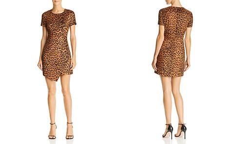 AQUA Leopard Print Faux Suede Dress - 100% Exclusive - Bloomingdale's_2
