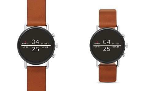 Skagen Falster 2 Brown Leather Strap Smartwatch, 40mm - Bloomingdale's_2