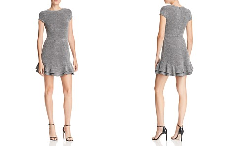 AQUA Ruffle-Hem Tweed Dress - 100% Exclusive - Bloomingdale's_2