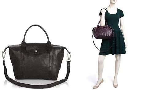 Longchamp Le Pliage Small Leather Satchel - Bloomingdale's_2