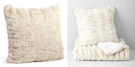 """Hudson Park Sculpted Faux Fur Decorative Pillow, 20"""" x 20"""" - 100% Exclusive - Bloomingdale's Registry_2"""