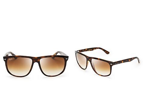 Ray-Ban Boyfriend Flat Top Square Sunglasses, 60mm - Bloomingdale's_2