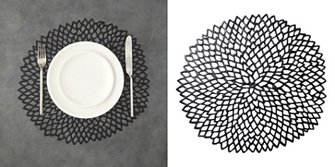 Chilewich Dahlia Pressed Vinyl Round Placemat - Bloomingdale's_2