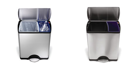 simplehuman 46-Liter Rectangular Step Garbage & Recycling Can - Bloomingdale's Registry_2