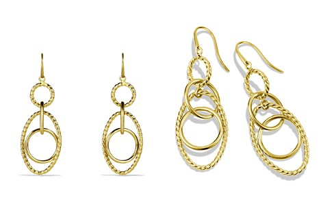 David Yurman Mobile Small Link Earrings in Gold - Bloomingdale's_2