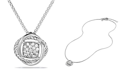 David Yurman Infinity Pendant with Diamonds on Chain - Bloomingdale's_2