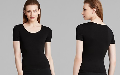 Armani Collezioni Tee - Basic Scoop Neck - Bloomingdale's_2