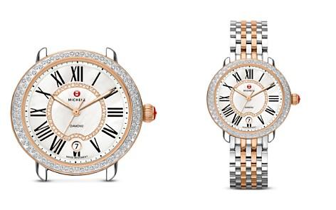 MICHELE Serein 16 Two-Tone Diamond Dial Watch Head, 36 x 34mm - Bloomingdale's_2